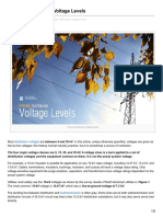 Primary Voltage Levels