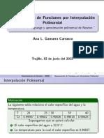Aproximación de Funciones Por Interpolación Polinomios de Lagrange y Aproximacióon Polinomial de Newton