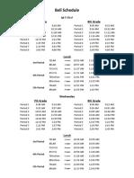 bell schedule 2017-2018