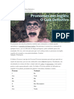 Pronomes Em Inglês