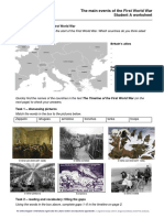 The Main Events of the First World War Worksheet Student A