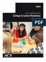 ACT report on Condition of College and Career Readiness in Iowa