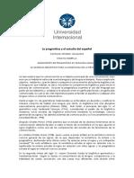 La Pragmática y El Estudio Del Español