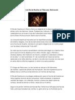 Celebración de Día de Muertos en Pátzcuaro