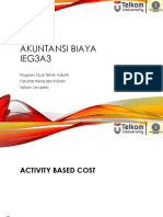 Activity Based Cost