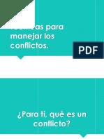 Técnicas Para Manejar Los Conflictos