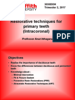 Week 1 2017_3030DOH_Restorative Techniques for Primary Teeth (Intracoronal)for L@G