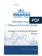 Earthquake Response Exercise Volume III - Functional Participant Groups