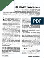 Understanding Service Convenience.