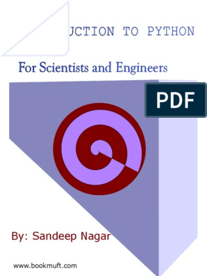 Sandeep Nagar Introduction to Python - For Scientists and