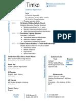 olivia timko resume 2017 attempt 1