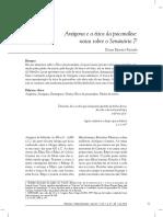 Antígona e a Ética Da Psicanálise Notas Sobre o Seminário 7