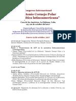 Congreso en Cuba-Cornejo Polar-paneles