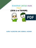 Mewarnai Kaligrafi Arab Untuk Paud