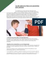 La Importancia Del Ejercicio Físico en Pacientes Con Hipertensión Arterial