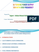 Copy of Control Gas Turbine Power Output in Conjuction With Grid Frequency