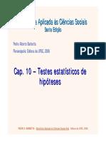 Cap 10 - Testes Estatísticos de Hipóteses