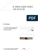 Tutorial Para Subir Video en Youtub