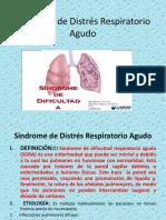 2. Síndrome de Distrés Respiratorio Agudo