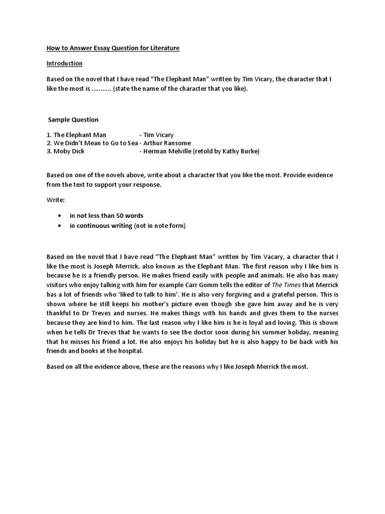 Elephant Man Essay  Environmental Science Essays also Mahatma Gandhi Essay In English  Catcher In The Rye Essay Thesis