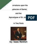 Observações sobre o livro de Daniel  e Apocalipse Por Sir Isaac Newton