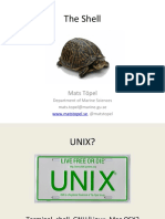 The Shell and Filesystem