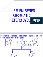 Reactions of Five Membered Aromatic Heterocyclic Compounds