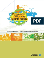 Programme Education Securite Routiere