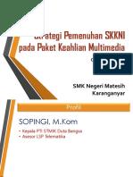 Strategi Pemenuhan SKKNI Paket Multimedia