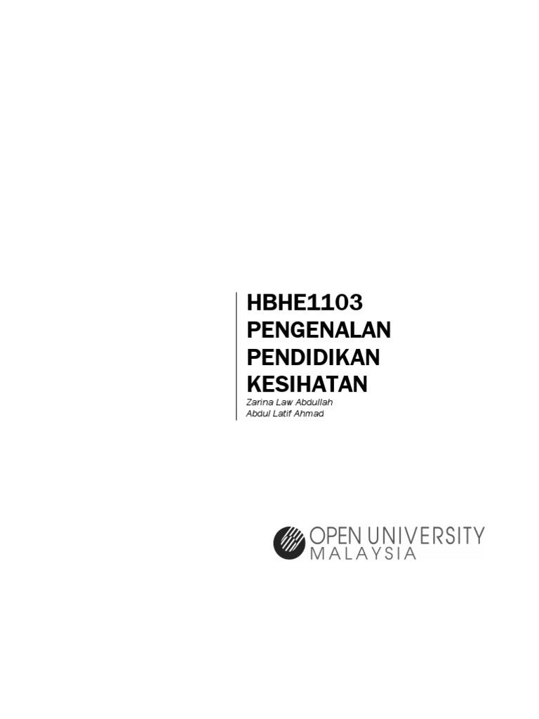 HBHE 1103 Pengenalan Pendidikan Kesihatan 5ed1c8acc1