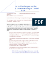 Answers to Challenges on the Adventist Understanding of Dani