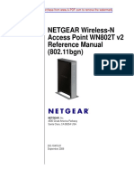 NETGEAR Wireless-N Access Point WN802T v2 Reference Manual