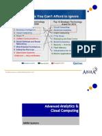 Analytics Cloud Computing