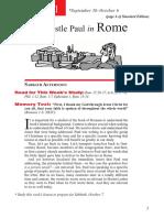 4th Quarter 2017 Lesson 1 Teachers Edition The Apostle Paul in Rome