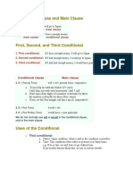Conditional Clause and Main Clause