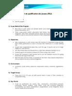 Projet de qualification des jeunes (English version)
