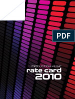 MCPS / PRS 2010 Rate Card