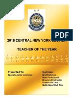 2016 CNY PGA Teacher of the Year