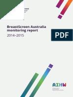 BreastScreen Australia monitoring report 2014–2015