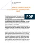 Consecuencias de La Sociedad de Consumo en El Perú
