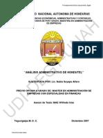 Análisis Administrativo de Hondutel