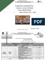 Planificare Calendaristica - Clasa Pregatitoare 2017-2018