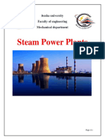 Steam Power Plants ( An Introduction And Components)