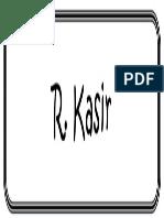 R. Kaisr