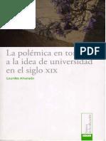 Lourdes Alvarado - La polémica en torno a la idea de Universidad en el siglo XIX.