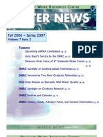 Fall 2006-Spring 2007 Water News Delaware Water Resources