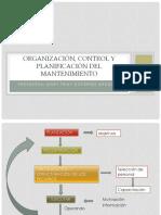 Organizacion y Planificación del Mantenimiento