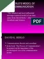 Lesson B. Comm Model- Berlo