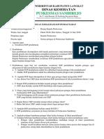 7.1.1.3 Notulen Pertemuan Sosialisasi Sop Pendaftaran Di Loket Pendaftaran