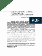 Ajustamento Na America Latina Consenso de Washinngton